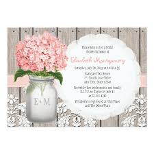 jar bridal shower invitations hydrangea monogrammed jar bridal shower invitation card