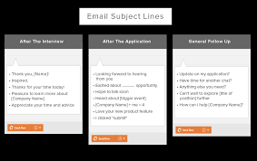 10 templates for follow up emails after an interview job
