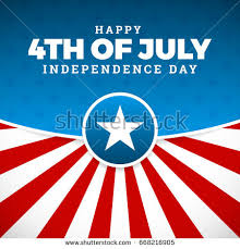 independence day design united states stock vector