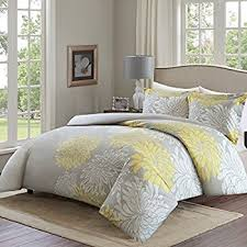 Yellow And Grey Bed Set Park Lola 6 Cotton Duvet Cover Set