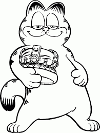 garfield halloween coloring pages coloring pages