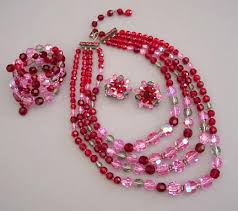 red crystal bead necklace images Morning glory antiques jewelry jpg