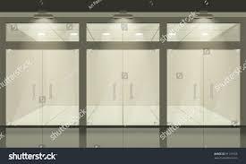 doors with glass windows shop glass windows doors front view stock vector 91139765