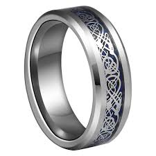 celtic dragon rings images Buy 8mm blue silvering celtic dragon tungsten jpg