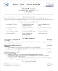 top resumes examples sample caregiver resume sample in home caregiver resume