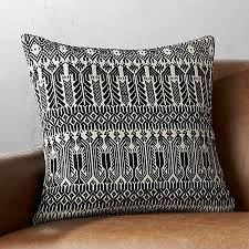 18 izel black and white fair isle pillow cb2