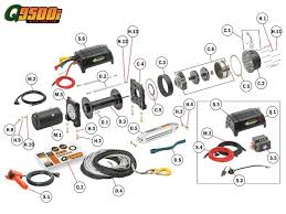 warn winch 2500 parts diagram automotive parts diagram images