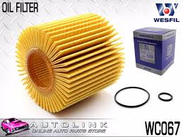 lexus hybrid perth wesfil oil filter cartridge suits lexus rx270 2 7l 4cyl 6 2012