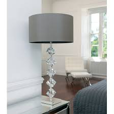 Vintage Table Lamp Shades Table Lamps Clear Seeded Glass Table Lamp With White Shade White