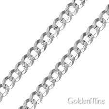 curb link necklace silver images Men 39 s 10mm sterling silver curb cuban link chain bracelet 8in jpg