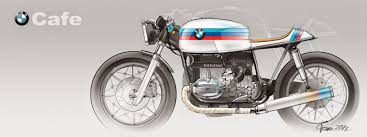 bmw motorcycle cafe racer digital sketching bmw cafe racer concept