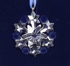 swarovski 2004 crystal seasons theme little snowflake ornament