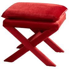 crawford stool red velvet