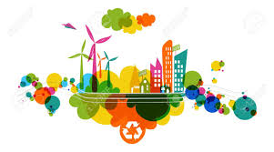 Colorful City Go Green Colorful City Industry Sustainable Development With