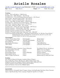 example dance resume audition resume sample dance resume 1 svjtnr