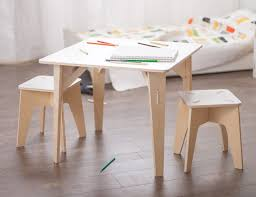 wooden kids table and stools u2013 sprout