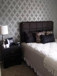 wall stencil patterns and ideas inarace modern bedroom stencil