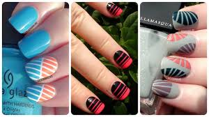 nail art best tape nail designs ideas on pinterest easy art with