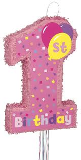 amazon com 4 5ft pink 1st birthday banner kitchen u0026 dining