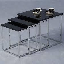 buy nest of tables stefan hi gloss black nesting tables 5569 furniture in