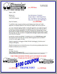 letters to lawn care business customers and property managers