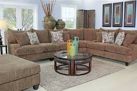 Living Room With Sectional Tabby Brown Living Room Mor Furniture For Less