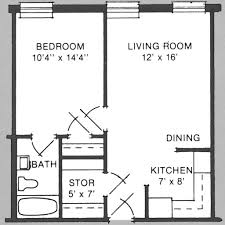 One Bedroom Apartment Layout 500 Square Ft Floor Plans
