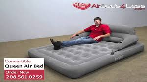 Intex Sofa Bed by Intex Convertible Lounge Queen Camping Air Bed Youtube