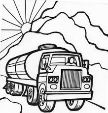 printable monster truck coloring pages for kids trucks tanker page