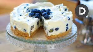 How To Make White Chocolate How To Make Blueberry And White Chocolate Cheesecake Youtube