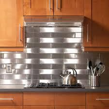 kitchen graceful stainless steel backsplash completing kitchen