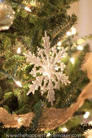 glittered dollar store ornaments the happier homemaker