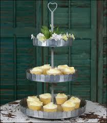 galvanized cake stand cake stand cupcake stand cake tree ribbon ceramic cake stand