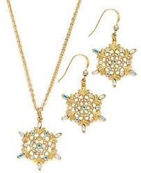 gold earrings necklace images Charter club necklace and earring set gold tone jpg