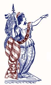 vintage patriotic clip art lady liberty 4th of july the