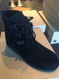 ugg womens shoes ebay ugg australia womens elvi lace up black 1017534 boots size 10 eu