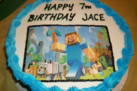 minecraft edible cake topper rockin my archive minecraft birthday party
