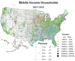 us map middle states the geography of lower middle and higher income households in the
