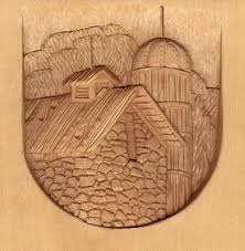 landscape relief wood carving by l s lsirish