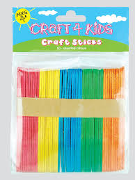 4 kids craft sticks sold as a pack of 12