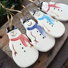 Bethlehem Lights Snowman by Snowman Ornament Frosty Snowman Ornament Handmade Pottery