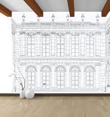 original design wallpaper geometric pattern sketch white