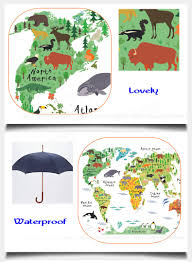 North America Wall Map by Kids Room Home Decor Great Colorful World Map Diy Removable Wall