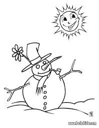 christmas snowman coloring pages hellokids com
