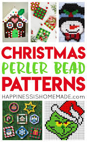 christmas perler bead patterns happiness is homemade