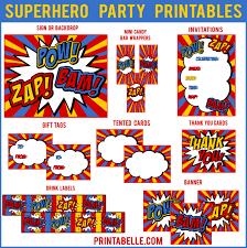 superhero party printables u2013 printables for kids parties u0026 games