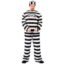 Halloween Jail Costumes Amazon Funworld Jailbird Prisoner Costume Clothing