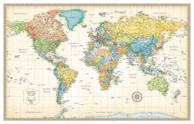 Mercator World Map by Amazon Com 32x50 Rand Mcnally World Classic Wall Map Framed