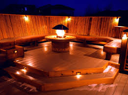 outdoor pool deck lighting lighting ideas for deck privacy raised designs website railing