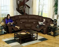 sofa impressive small sectional sofa with recliner 6pc